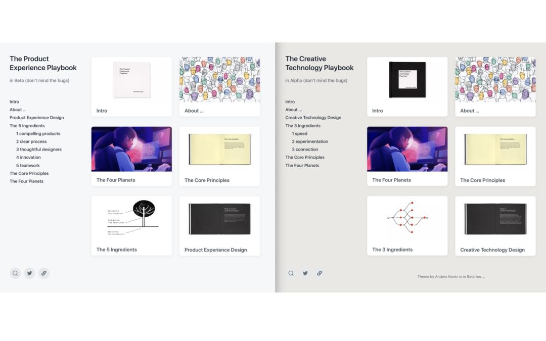 Product Experience and Creative Technology Design Playbooks