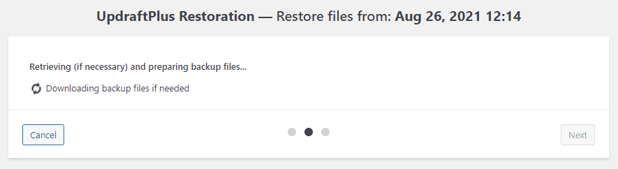 Preparing to download files